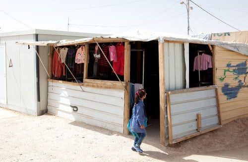 Mansour Mohammed's used clothing shop   Photo: Dustin Mennie