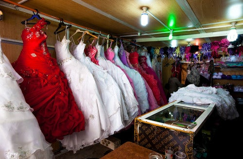 Wedding dresses for hire   Photo: Dustin Mennie