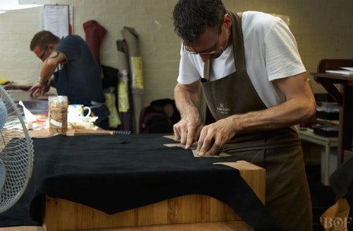 A John Lobb craftsman | Photo: Duane Nasis for BoF