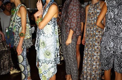 Backstage at Indigenous fashion week   Photo: Sonny Vandevelde