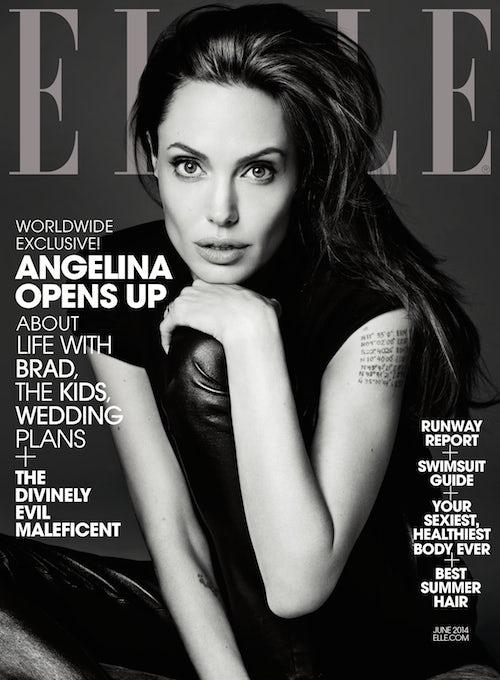 Cover of Elle (US) June 2014   Photo: Hedi Slimane for Elle