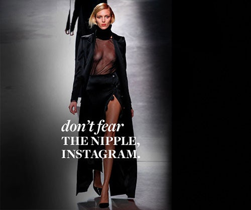 Anja Rubik for Anthony Vaccarello | Source: Style.com