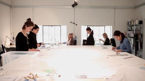 Pattern-cutting room at JW Anderson head office | Source: The Business of Fashion