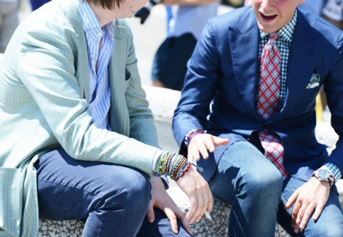 At Pitti Uomo in 2013   Photo: Tommy Ton