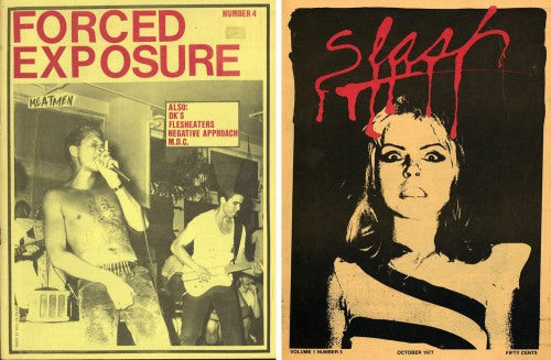 Punk 'zines Forced Exposure and Slash from the '80s | Source: Arthur Fournier