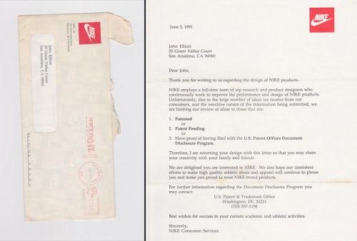 Nike's response to 8-year-old Elliott's designs