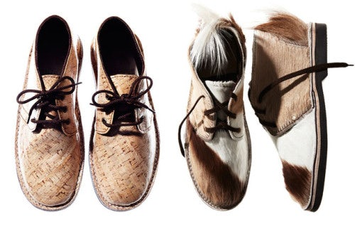 Vellies in patent cork and springbok fur | Source: Brother Vellies