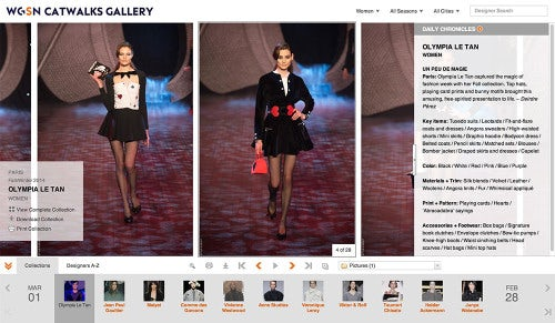 WGSN's catwalk gallery tool | Source: WGSN