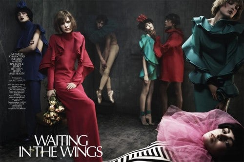 'Waiting in the Wings' in CR Fashion Book S/S 2013 by Maurizio Bavutti | Source: Models.com