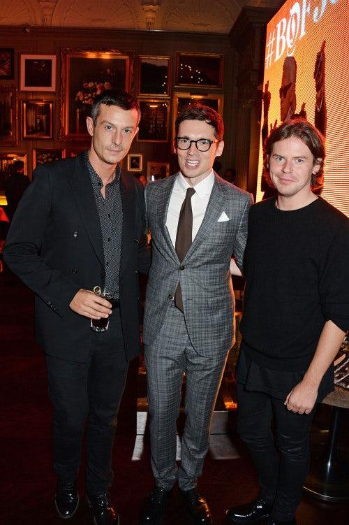 Jonathan Saunders, Erdem Moralioglu and Christopher Kane   Photo: David M Benett