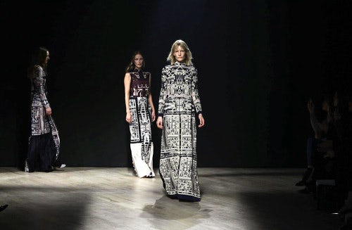 Mary Katrantzou Fall/Winter 2014 | Source: NowFashion