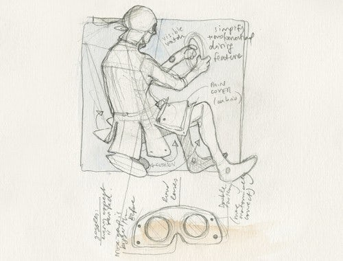 An Aitor Throup sketch from his time at the RCA | Source: Aitor Throup