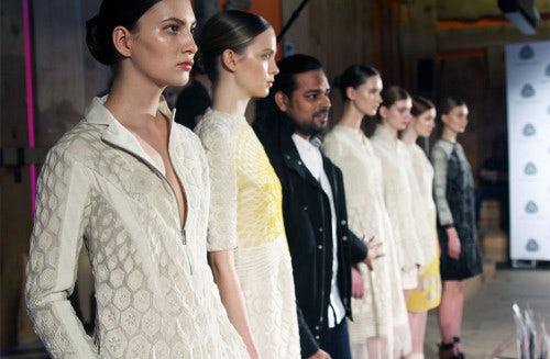 Rahul Mishra presenting at Woolmark panel | Photo: Susanna Lau