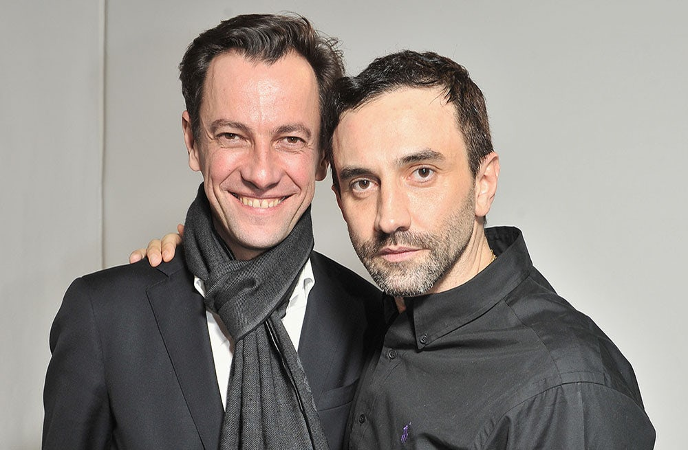 Pierre-Yves Roussel and Riccardo Tisci | Photo: Bertrand Rindoff Petroff/Getty