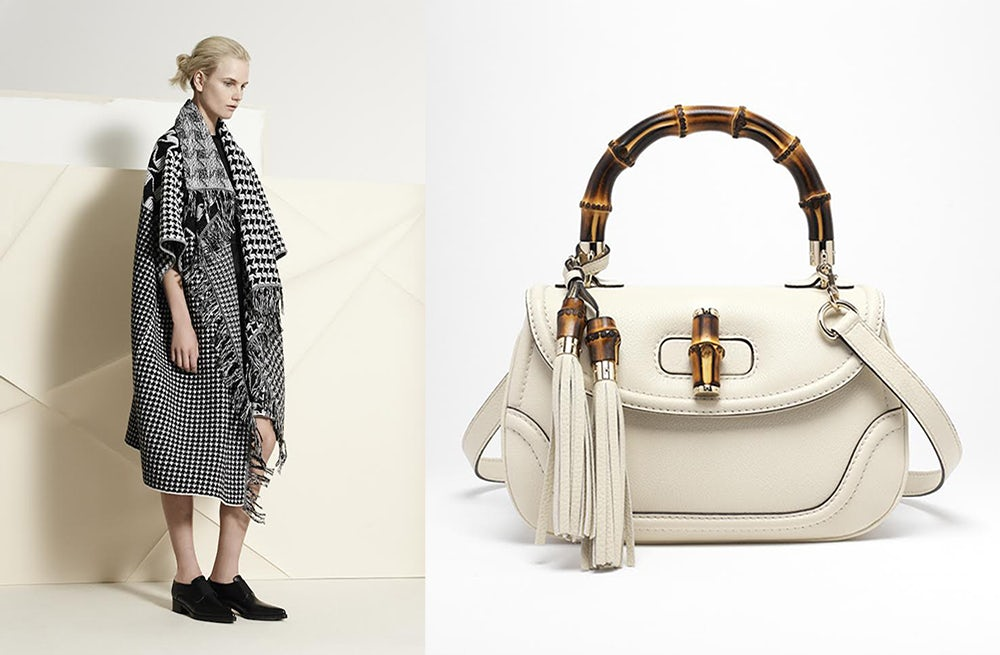 (L) Stella McCartney (R) Gucci handbag | Source: Courtesy